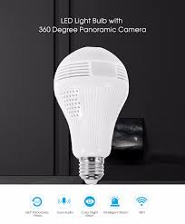 wifi camera light bulb socket led light bulb with 360 degree panoramic camera 40 78 free
