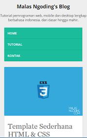 tutorial membuat web html sederhana membuat template web responsive dengan html dan css malas ngoding