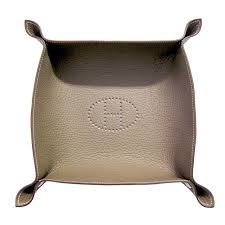 Hermes Home Decor by Hermes Etoupe Mises Et Relances Leather Jewelry Valet Change Tray