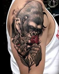 tattoo rose arm tattoo gorilla rose smoke arm tattoo tattoo for all animals