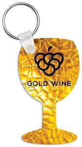 wine glass keychain aluminum wine glass keychain gift awards