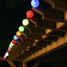 outdoor string solar lights putting up backyard string lights
