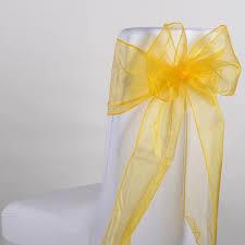 gold chair sashes organza chair sashes wholesale cheap wedding chair sashes