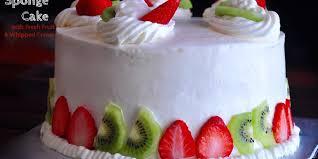 fruit fresh sponge cake with fresh fruit and reciperecipes r simple