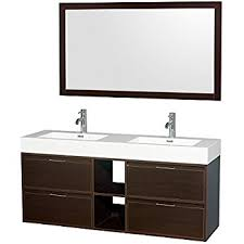 Acrylic Vanity Table Wyndham Collection Amare 60 Inch Double Bathroom Vanity In