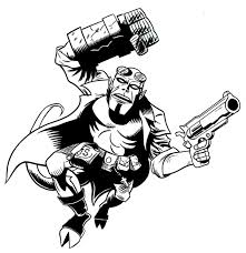 hellboy coloring pages jack kirby hellboy inked by scottewen on deviantart