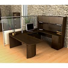 Office Desk U Shape Bestar Executive U Shape Computer Computer Desk Chocolate