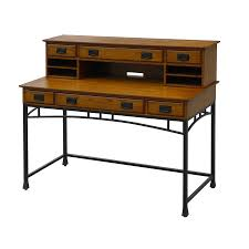 Modern Executive Desks by Shop Home Styles Modern Craftsman Executive Desk At Lowes Com