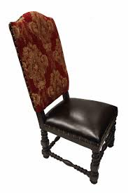 deep red gold damask dining chair old world french dining room