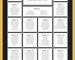 9 best images of free printable reception seating charts