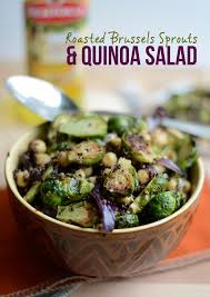 roasted brussels sprouts and quinoa salad fit foodie finds