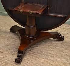 Solid Mahogany Dining Table Large Circular Victorian Solid Mahogany Antique Dining Table