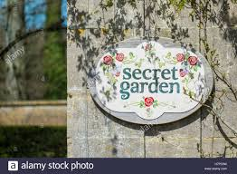Secret Garden Wall by Secret Garden Sign On A Wall Stock Photo Royalty Free Image