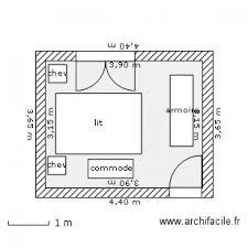 plan chambre a coucher chambre à coucher plan 1 pièce 12 m2 dessiné par charly