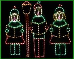 Christmas Yard Decorations Carolers by Wireframe Decoration Etsy