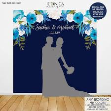 wedding backdrop blue wedding backdrop wedding photo booth backdrop floral blue