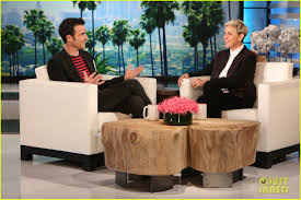justin theroux receives life size jennifer aniston doll from ellen