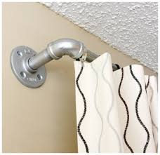 Polished Nickel Curtain Rods Simple Family Room With Polished Chrome Conduit Pipe Curtain Rod