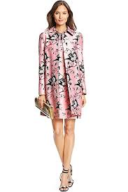 light pink wool coat dvf amana printed silk wool coat in simple toile garden light pink