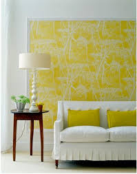 Yellow Accent Wall Trends In Wallpaper Accent Walls Bossy Color Annie Elliott