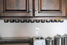 under cabinet spice rack simple white kitchen with lava rock stained wooden finishing kitchen
