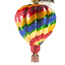 glass air balloon ornament kurt s adler noble gems
