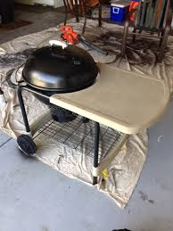 how to build a weber grill table diy weber kettle grill redo wild forage
