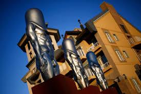 Hard Dick Meme - penis shaped bullet man statues become olympic meme