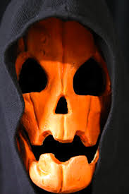 pumpkin mask mask samhain pumpkin beyond the grave productions