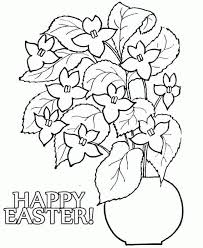 Easter Flower Coloring Pages - easter flower coloring pages kids coloring