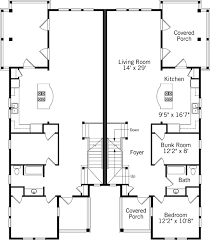 Basic Duplex Floor Plans Dune Duplex Coastal Living Southern Living House Plans
