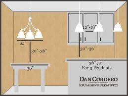 what is the height of a kitchen island light fixture height above island lighting designs