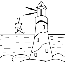 Lighthouse Giving Sign Boat Coloring Pages Download U0026 Print