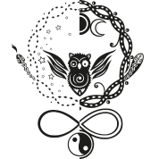 symbols of hecate moon goddess owl and snakes longsleeve shirt