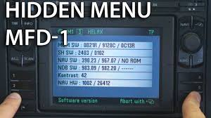 how to enter hidden service menu in mfd 1 dx vw passat golf škoda