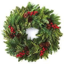 fresh wreaths fresh evergreen wreath 24 inch sam s club