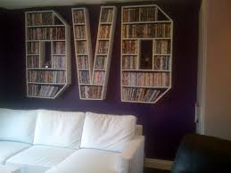 dvd shelf with pictures