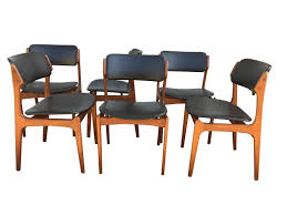 6 Black Dining Chairs Model 49 Dining Chairs By Erik Buch 1950s Set Of 6 For Sale At