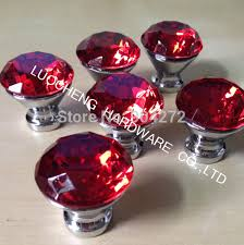 Online Buy Wholesale Red Glass Door Knob From China Red Glass Door - Red kitchen cabinet knobs