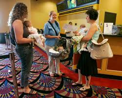 how and where to take baby to the movie theater rookie moms