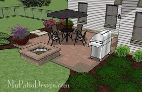 Patio Backyard Ideas Easy To Build Patio With Fire Pit Patio Designs And Ideas