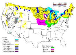 map us landforms pleistocene glaciers and geography