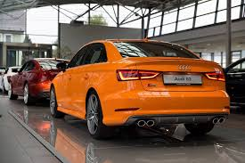 orange cars 2016 audi s3 sedan with glut orange paint audi pinterest sedans