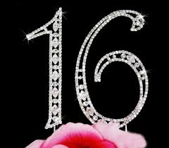 number cake topper sweet sixteen and quinceanera cake toppers