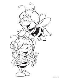 kids fun 55 coloring pages maya bee