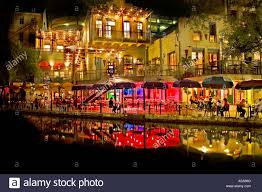 san antonio riverwalk christmas lights 2017 san antonio texas river walk at night with christmas lights stock