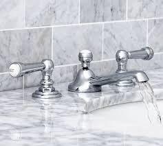 Bathroom Faucets Pictures Reyes Lever Handle Widespread Bathroom Faucet Pottery Barn
