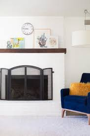 How To Paint Furniture White by How To Paint A Brick Fireplace White Lovely Indeed