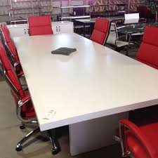 White Conference Table Advanced Liquidators Pc Collection 10ft Rectangular Conference