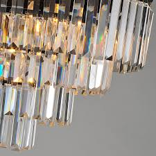 Odeon Crystal Chandelier Aliexpress Com Buy 4 Tier Odeon Clear Prisms Crystal Fringe